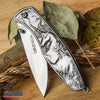 "Image of 8"" Fantasy UNICORN POCKET FOLDING RAZOR KNIFE Outdoor Camping Hiking 5 COLORS"