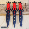 "Image of 3PC 7.25"" NINJA KUNAI TACTICAL Double Edged Throwing Knife Set + Sheath"