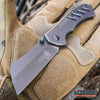 "Image of MINI CLEAVER 6.5"" CAMPING HUNTING BUCKSHOT Pocket Folding Knife Assisted Open"