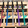 "Image of 29.75"" HERO EDGE FANTASY SWORD + 2 Throwing Knives DUAL BLADE Technicolor KATANA"