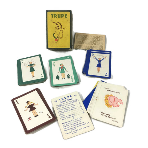 "Vintage 1939 ""Trupe"" Girl Scout Game For Worlds Fair Prospero Goat"