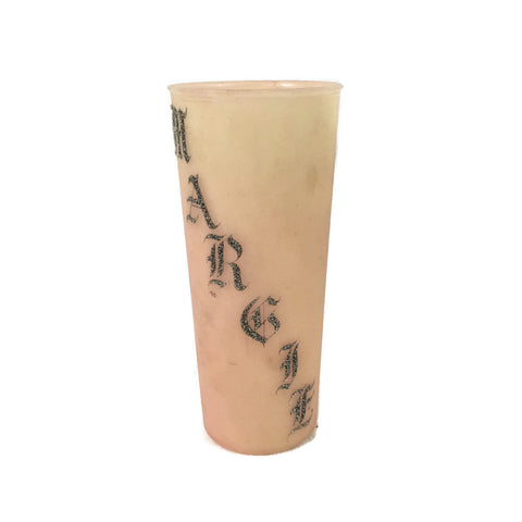 Margie Sejas Name Tupperware Tattoo/ Prison Art Cup