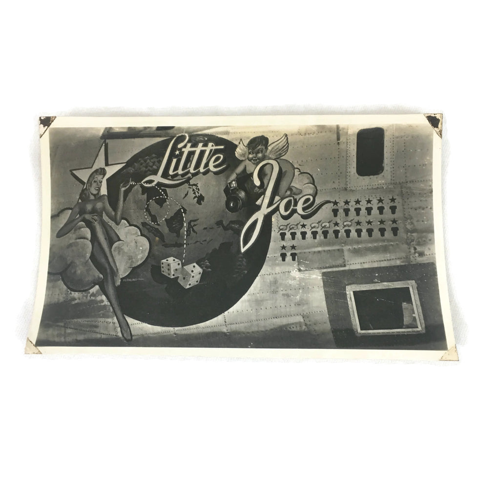Vintage Little Joe Original WW2 Warplane Nose Art Photo