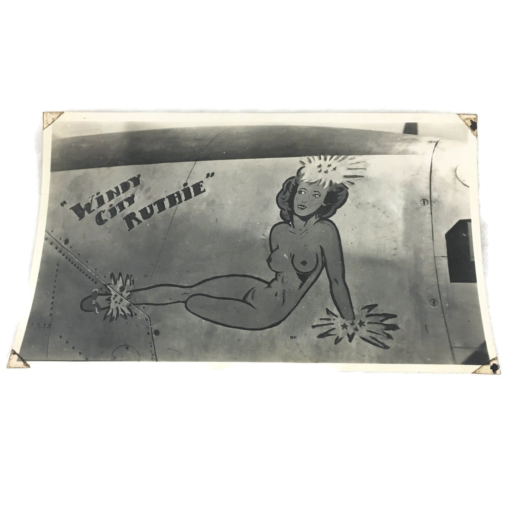 Vintage Windy City Ruthie Original WW2 Warplane Nose Art Photo