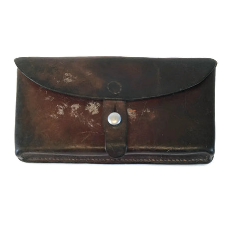 Vintage Leather German Ammo Pouch