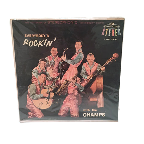 Vintage 1959 Stereo Rec LP Champs Everybody's Rockin'