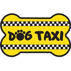 Bone Shaped Car Magnet - Dog Taxi