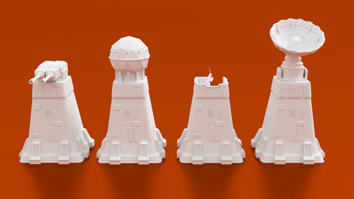 Corvus Games Terrain 3D printable observation tower and laser turret for Star Wars Legion, Warhammer 40K and Infinity.jpg