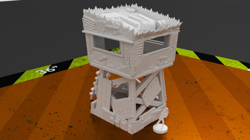 Corvus Games Terrain Ork Greenskin Lookout Tower for 28mm tabletop wargames like Warhammer 40k, Kill Team, Necromunda and post apocalyptic games