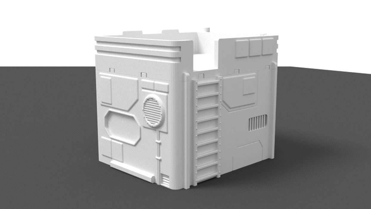 Corvus Games Terrain Small City House scenery for Star Wars Legion, Warhammer40K and Infinity The Game 3D printable scenery