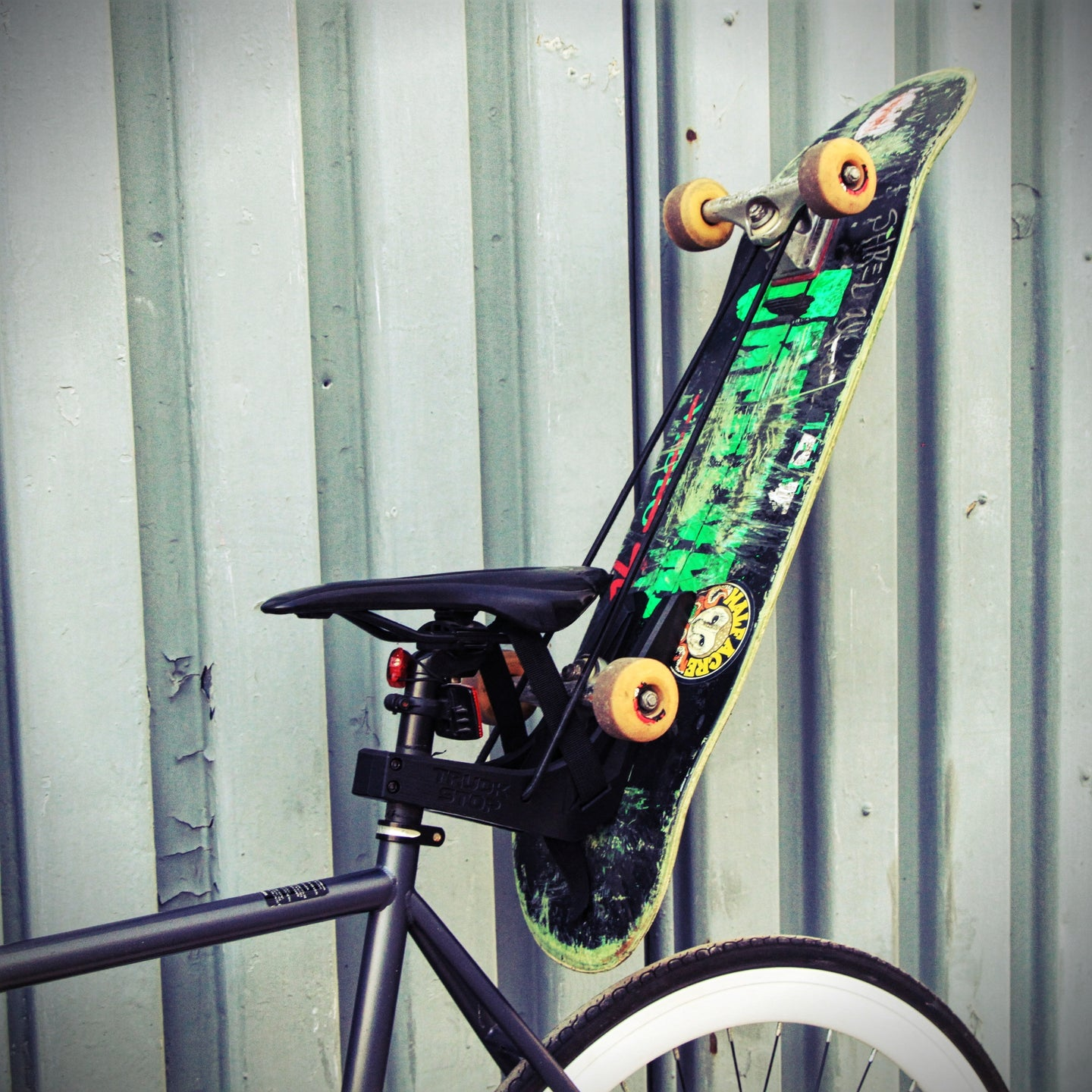 Truck Stop - Bike Seat Skateboard Holder