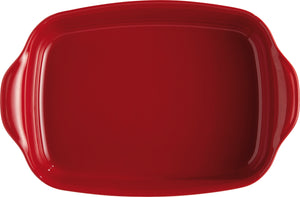 Emile Henry Ultime Rectangular Baking Dish Color: Burgundy; Size: Large Rectangle