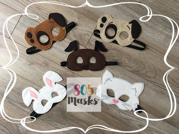 Pet Animal Felt Masks