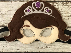Sofia the First Inspired Felt  Mask