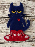Pete the Cat Inspired Felt Finger Puppets
