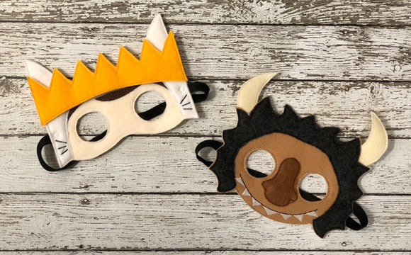 Where the Wild Things Are Inspired Felt Masks