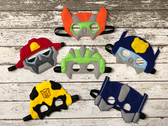 Rescue Bot Inspired masks Rescue Bots Transformer Birthday Rescue Bot Mask Transformer Mask Bumblebee Party Favor Kids Mask Dress Up