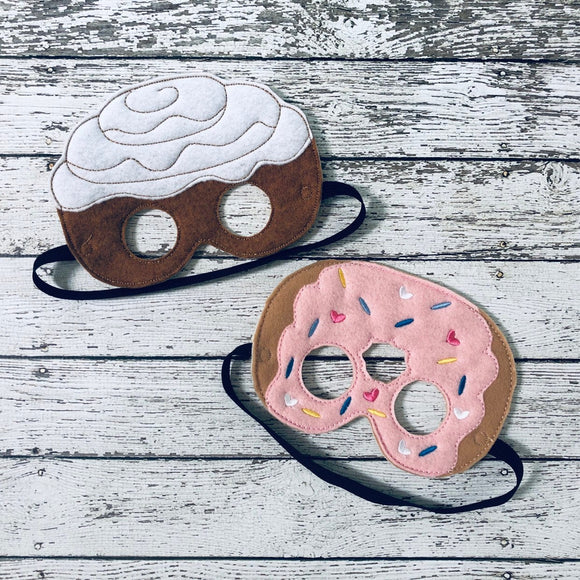 Cinnamon Roll Mask Donut Mask Sweet Roll Mask Cinnamon Costume Donut Costume Dress Up Pretend Play Food Mask Pastry Costume Party Favor