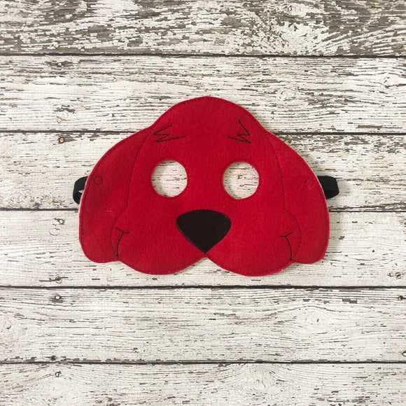 Big Red Dog Mask Clifford Felt Mask