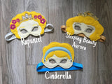 Princess Mask Dress up Princess Halloween Costume Pretend Play Felt Mask Birthday Party Princess Birthday Party Princess Party Favor