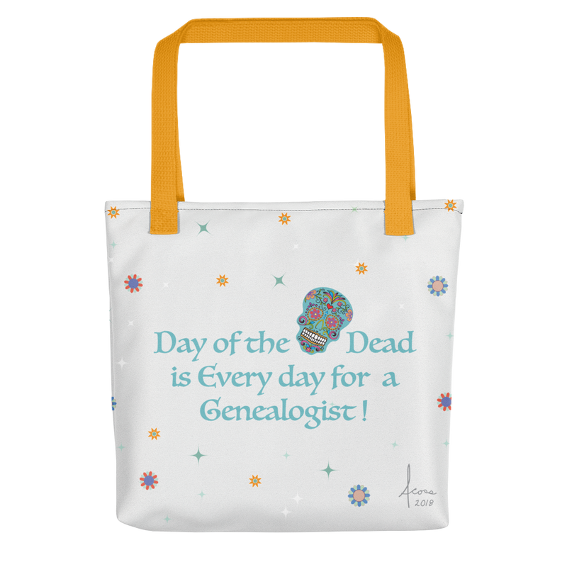 Genealogist 'Day of the Dead' Tote Bag (White)