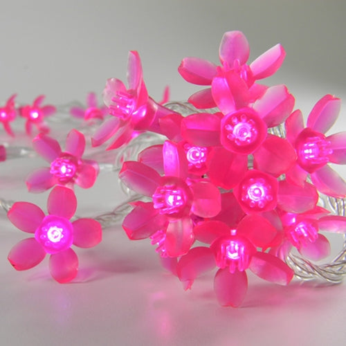 Pink Petal String Lights, Plug-In, Clear Wire