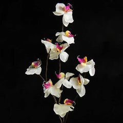 Lighted Orchid Blossom Garland, 5 feet, Battery Operated, White