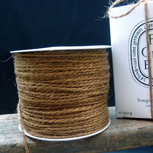 Jute Rope Twine 1.5mm x 100 Yards, String, Rustic BURLAP
