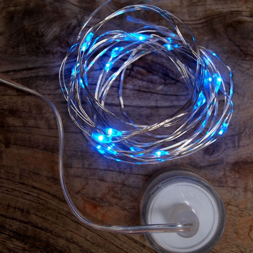 Fairy Lights, Submersible LEDs & Battery Pack, Floral Lights, 9 feet, Blue
