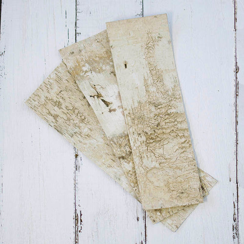 Natural Birch Bark Strips, 20 x 7 inch Rectangle Wood Sheets, Set of 6
