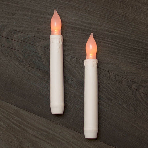 Stick Candle, LED, Silicone Bulb, 4 in x 1 in, Battery Operated, White