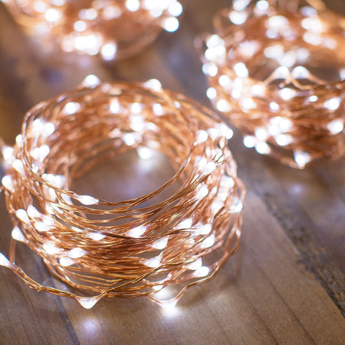 Fairy Lights, 400 LEDs, 100 Ft Long String, Outdoor Plug In, Cool White