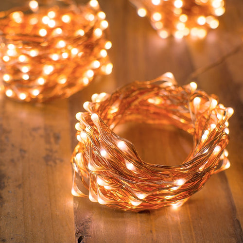 Fairy Lights, 400 LEDs, 100 Ft Long String, Outdoor Plug In, Warm White