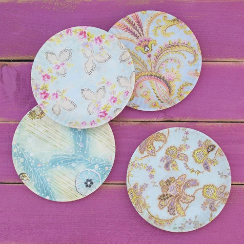 Dinner Plates, Melamine, 9 in., Assorted Party & Event Pack, Set of 4