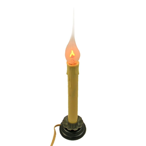 Candle Lamp, Silicone Tip Flickering Bulb, 9.75 inches, Plug-In