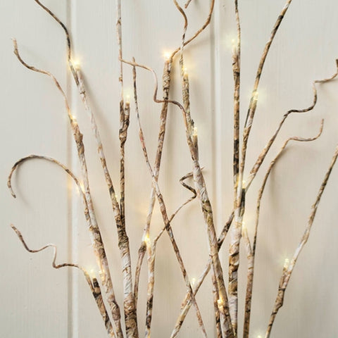 Lighted Silver Manzanita Tree with Base, 36 inch, Electric, Pink