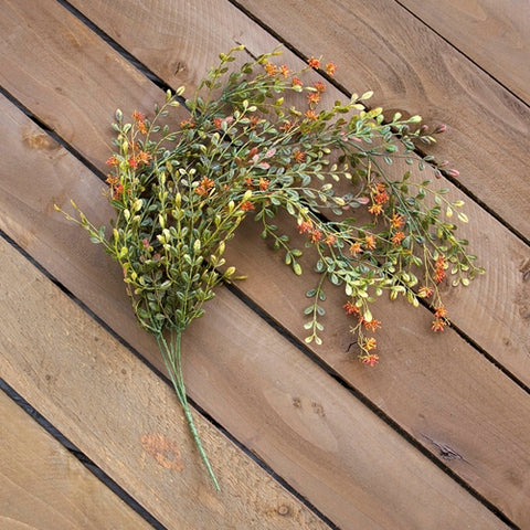 Faux Arborvitae Garland, Artificial Glitter Swag, 6 ft, Champagne Gold