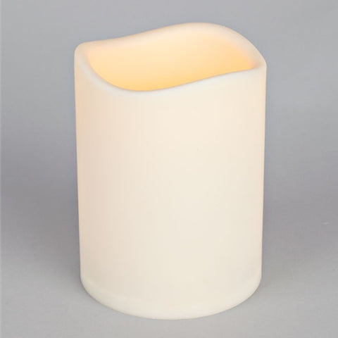 Pillar Candle with Remote Control, 8 inch, Battery Op., Timer, Dimmer