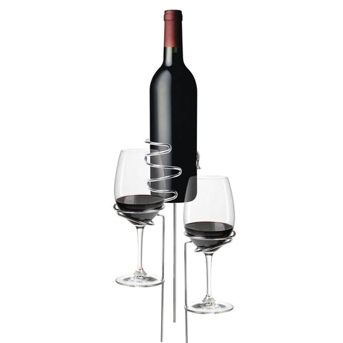 Picnic Stix: Wine Glass and Bottle Stands, Set of 3