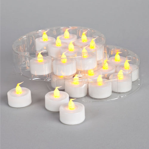 Everlasting LED Tea Light Candles, 48 Piece Value Pack