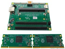 RPI-COMPUTE3-KIT -  Development Kit, Raspberry Pi Compute Module 3, SOM I/O Board, All Necessary Interface Ports