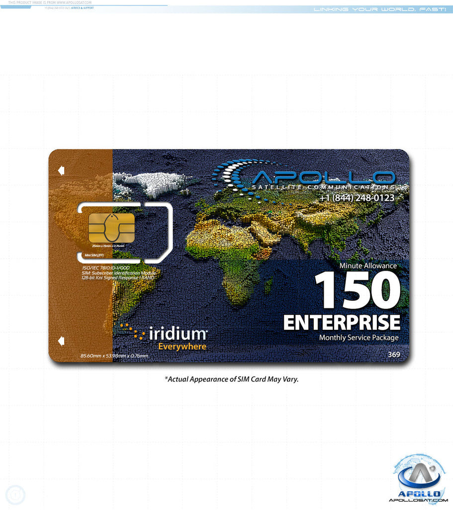 Iridium Enterprise Monthly Satellite Phone Service Plan