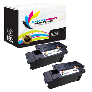 Smart Print Supplies E525W E525K 593-BBJX Replacement Black Toner Cartridge Two Pack