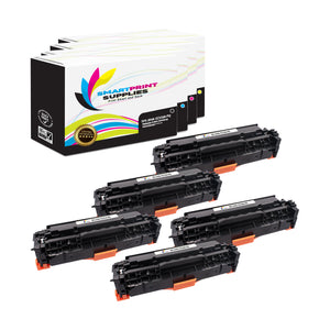 5 Pack HP 304A Premium Replacement 4 Colors Toner Cartridge by Smart Print Supplies