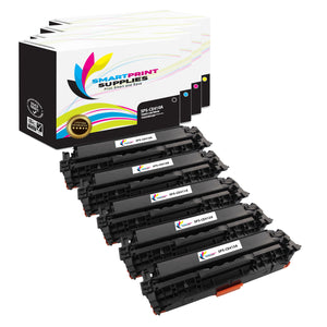 5 Pack HP 305A/305X 4 Colors Toner Cartridge Replacement By Smart Print Supplies