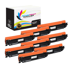 8 Pack HP 30X Black Toner Cartridge Replacement By Smart Print Supplies