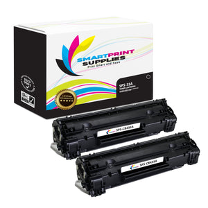 2 Pack HP 35A Black Toner Cartridge Replacement By Smart Print Supplies
