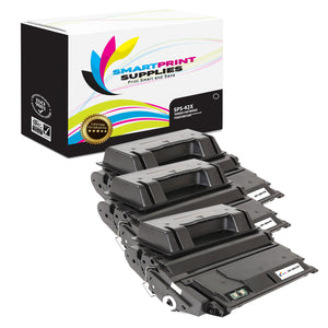 3 Pack HP 42X Black Toner Cartridge Replacement By Smart Print Supplies