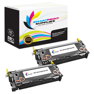 2 Pack HP 501A/502A Premium Replacement Black Toner Cartridge by Smart Print Supplies