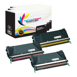 3 Pack Lexmark C534H Replacement (CMY) Toner Cartridge by Smart Print Supplies